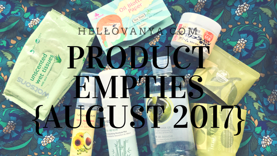 PRODUCTEMPTIES{AUGUST 2017}