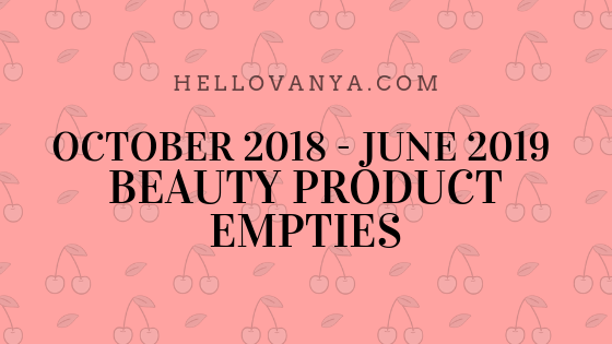 OCT2018-JUNE2019 PRODUCT EMPTIES