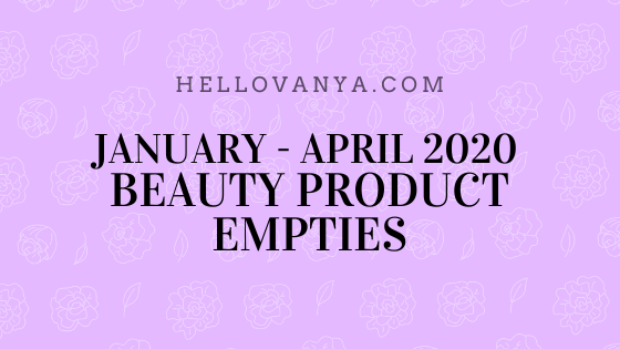 JAN-APR2020 PRODUCT EMPTIES